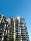 Modern apartment block in Canary Wharf, London Stock Image