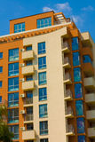 Modern Apartment Building. Modern Luxury Apartments Building in Vibrant Colors stock image