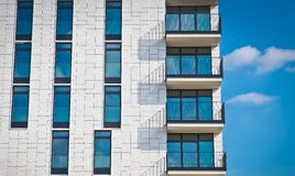 Modern apartment building Royalty Free Stock Images