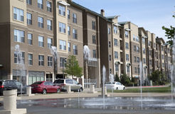 Modern apartment building background royalty free stock photo