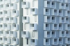 Modern apartment building with balconies Royalty Free Stock Photo