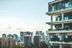 Modern apartment building in city Royalty Free Stock Images