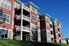 Modern apartment building. Close up on modern apartment building in sunny day Royalty Free Stock Photography