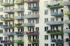 Modern apartment building Stock Photography