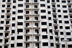 Modern apartment building construction Royalty Free Stock Image
