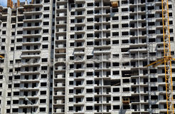 Modern apartment building construction Stock Image