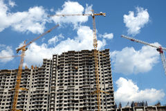 Modern apartment building construction Stock Photos