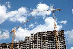 Modern apartment building construction Stock Photo
