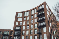 Modern Apartment Building with Curved Facade Royalty Free Stock Photo