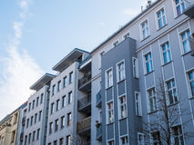 Modern Apartment Building with Gray Facade Royalty Free Stock Photography