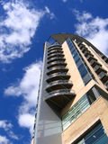 Modern Apartment Building in Manchester. England stock photography