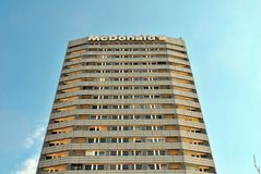 Modern Apartment Building Marszalkowska. Royalty Free Stock Photography