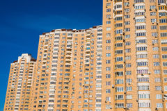Modern apartment building in Moscow, Russia Stock Photo