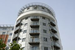 Modern apartment building. Portsmouth. England Royalty Free Stock Image