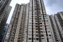 Modern apartment building in residential srea stock photography