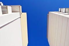 Modern, Luxury Apartment Building against blue sky Stock Photos