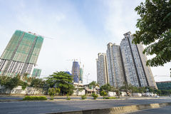 Modern apartment building in Vietnam Stock Images