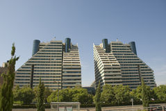 Modern apartment buildings. In spain royalty free stock photos