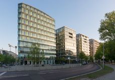 Modern apartment buildings in Berlin, Germany stock image
