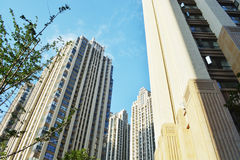 Modern apartment buildings. In china Royalty Free Stock Images