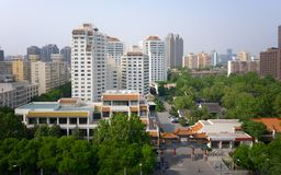 Modern apartment buildings in China, Beijing. At sunny day stock photo