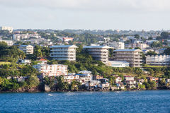 Modern Apartment Buildings on Coast of Martinique Royalty Free Stock Image