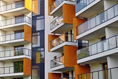 Modern apartment buildings exteriors Royalty Free Stock Photo