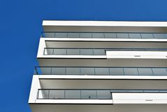 Modern apartment buildings exteriors Royalty Free Stock Images