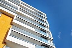 Modern apartment buildings exteriors Royalty Free Stock Photos