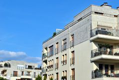 Modern apartment buildings exteriors Stock Image