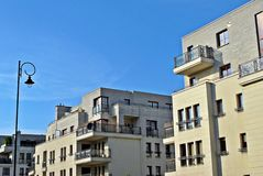 Modern apartment buildings exteriors Royalty Free Stock Photography