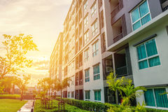 Modern apartment buildings exteriors or Contemporary Architectur Royalty Free Stock Photo