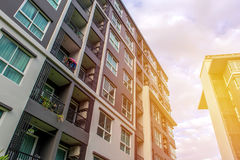 Modern apartment buildings exteriors or Contemporary Architectur Royalty Free Stock Photos