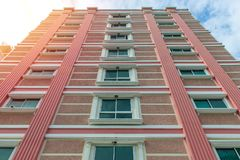 Modern apartment buildings exteriors or Contemporary Architectur Royalty Free Stock Photography