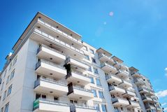 Modern apartment buildings exteriors Stock Image