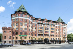 Modern apartment buildings in the new district of Moscow Stock Images