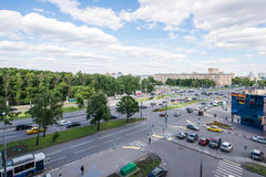 Modern apartment buildings in the new district of Moscow Stock Photography