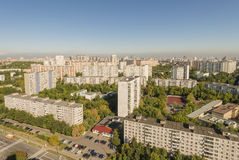 Modern apartment buildings in the new district of Moscow Stock Image