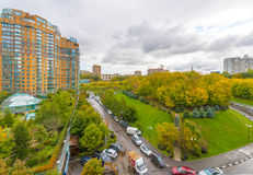 Modern apartment buildings in the new district of Moscow Royalty Free Stock Photography