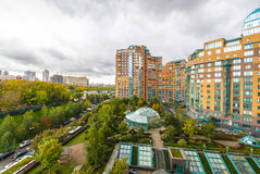 Modern apartment buildings in the new district of Moscow Stock Photo