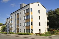 Modern apartment buildings Royalty Free Stock Photography