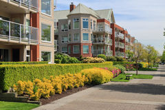 Modern apartment buildings. In New Westminster, British Columbia, Canada Royalty Free Stock Photo
