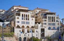 Modern apartment buildings in old port of Jaffa Stock Image