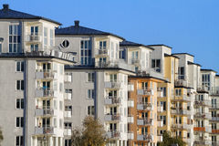 Modern apartment buildings. Stock Image