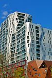 Modern apartment buildings in Rotterdam Royalty Free Stock Images