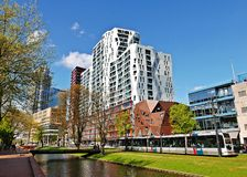 Modern apartment buildings in Rotterdam Stock Image