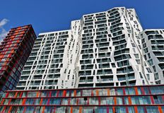 Modern apartment buildings in Rotterdam Stock Photo