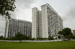 Modern apartment buildings in Singapores Ang Mo Ki Stock Photo