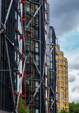 Modern apartment buildings on Thames Southbank. Modern and award-winning blocks of flats situated on Thames Southbank in London Royalty Free Stock Image