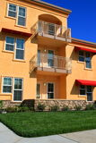 Modern Apartment Complex. Close up of a brand new apartment complex Royalty Free Stock Images